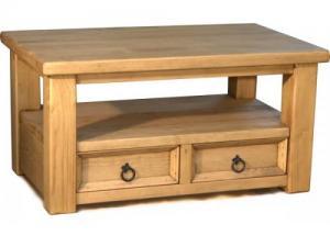 Стол журнальный в гостиную из сосны, Деревянный журнальный стол в гостиную. Журнальный стол из массива с эффектом старения