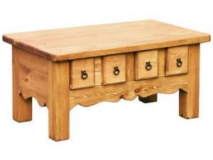Столик журнальнгый из сосны с ящиками купить, Журнальный стол с ящиками из массива. Журнальный стол в натуральном цвете купить