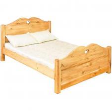 Кровать двуспальная, сосна, Lcoeur, 160х200, высокое изножье, цена, в Москве, с доставкой
