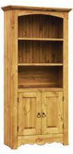 Шкаф для книг из сосны, Библиотека массив сосны, книжный шкаф в собранном виде цена