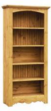 Книжный шкаф из сосны цена, шкаф с открытыми полками из дерева с доставкой, Шкаф для домашней библиотеки по низкой цене сосна