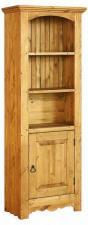 Узкий шкаф для книг сосна, старение купить для кабинета, Шкаф для книг длина 59 см из сосны для дачи