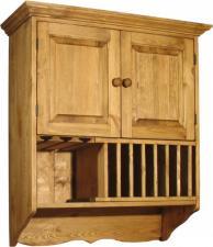 Шкаф из сосны настенный шириной 800 мм с доставкой, Купить настенный шкаф ПЛ 26к (800)