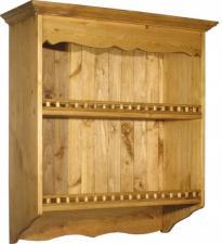 Шкаф настенный из массива для кухни Волшебная сосна.