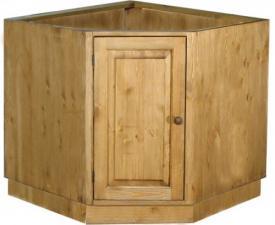 Угловой стол под мойку из сосны, шкаф-стол угловой под мойку Волшебная сосна в Воронеже, Угловой модуль под мойку из сосны в Москве