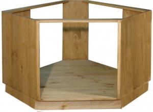 Шкаф-стол для кухни из сосны под технику в Воронеже, Купить угловой шкаф-стол для встроенной техники в Воронеже.